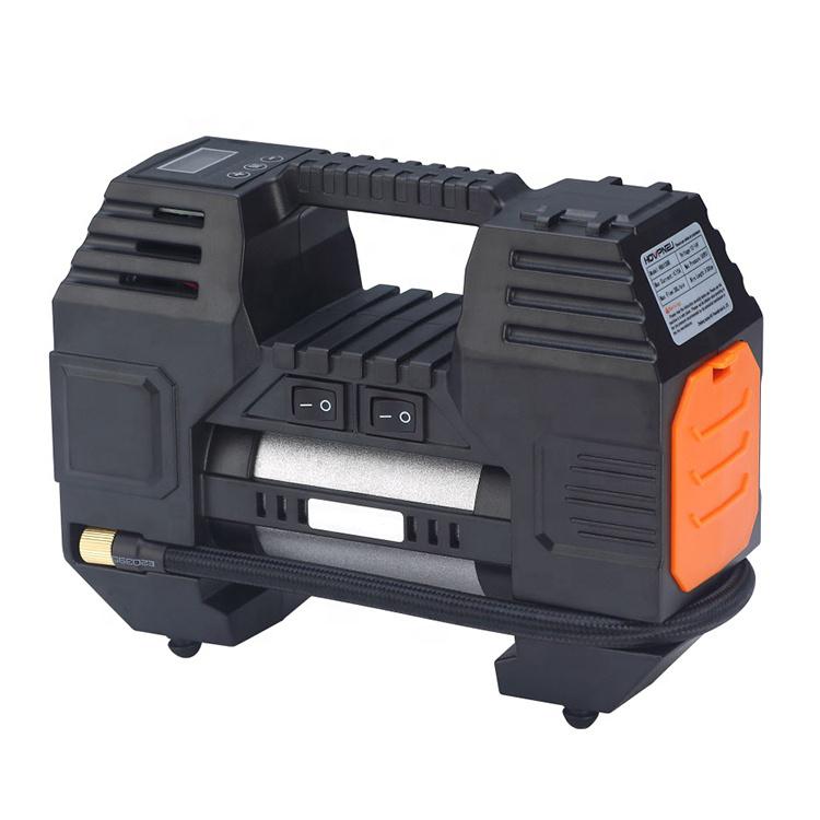 HB6108B DC 12V portable car air compressor pump tire inflator digital display LED light