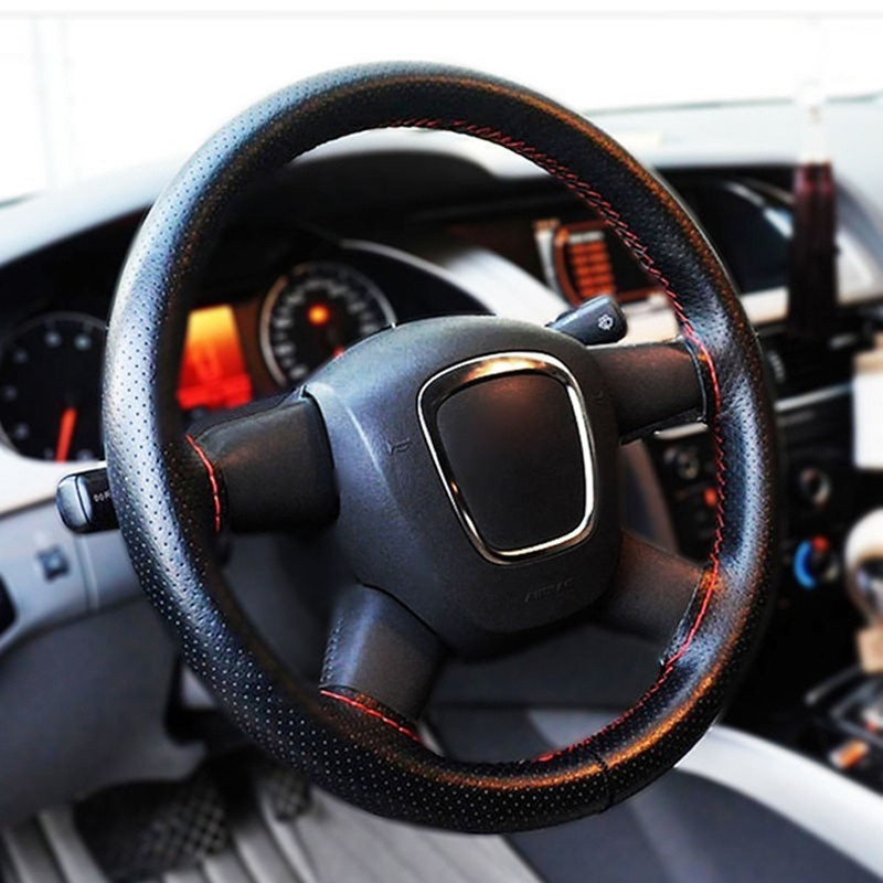 TJ-6 New Car Steering Wheel Cover Artificial Leather High Quality Steering Wheel Cover