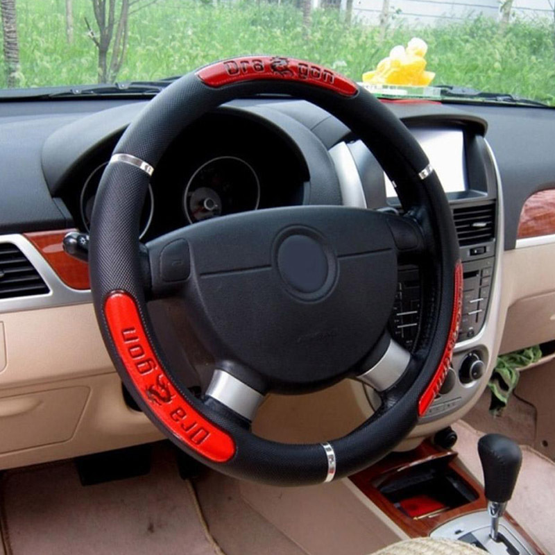 RZLX501 New Car Steering Wheel Cover Artificial Leather Leather Car Steering Wheel Cover Car-styling
