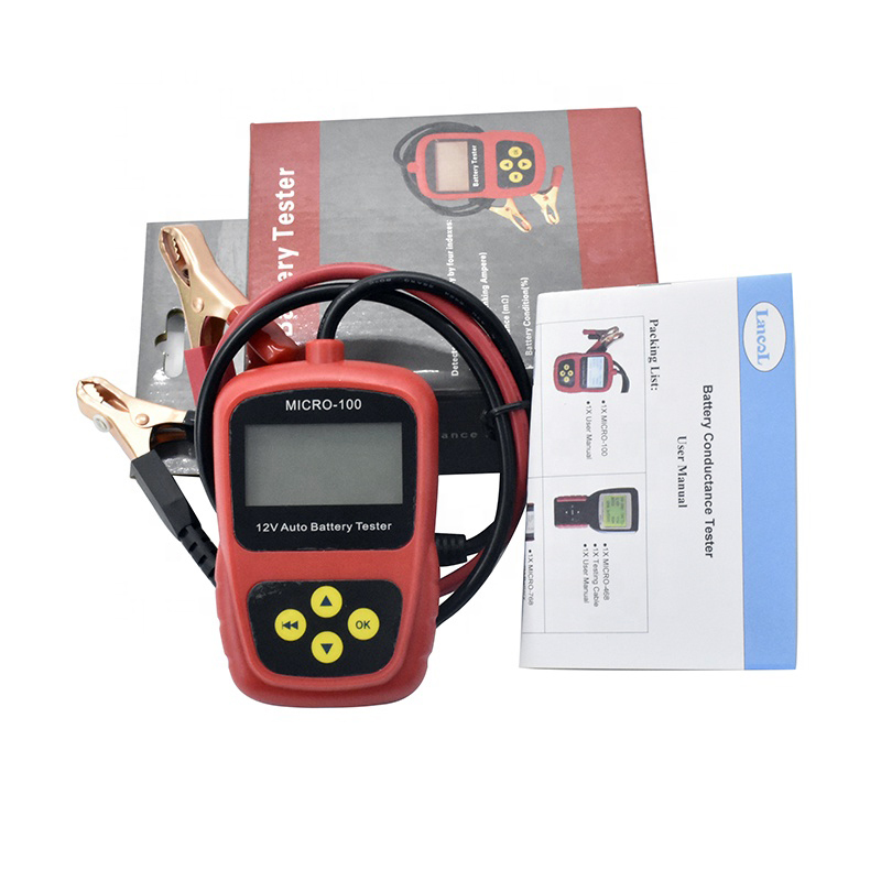 YX-Micro 100 Digital Motorcycle battery tester 12v 24v car Battery Tester With Metal Clamp