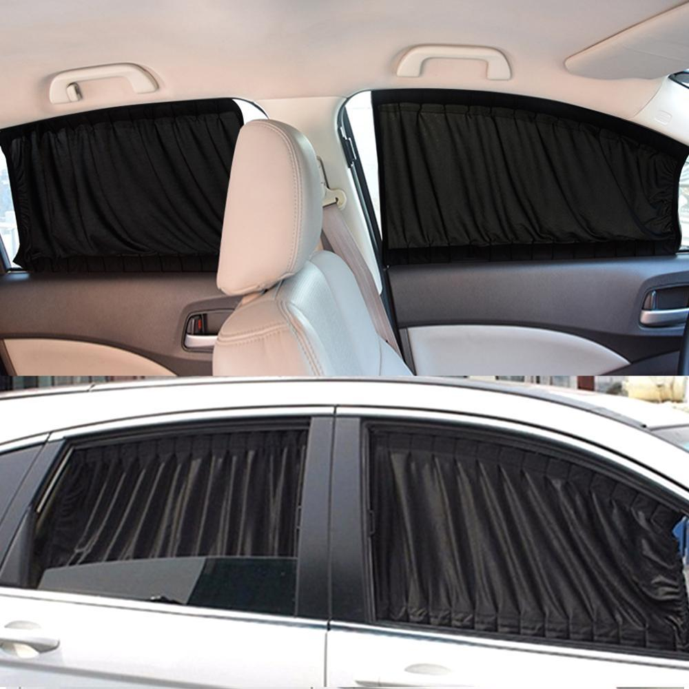 YX-ZYD-001 Summer Car Magnetic Curtain Sun Shade Pull Down Car Window Shades Side Window Mesh Sun Visor