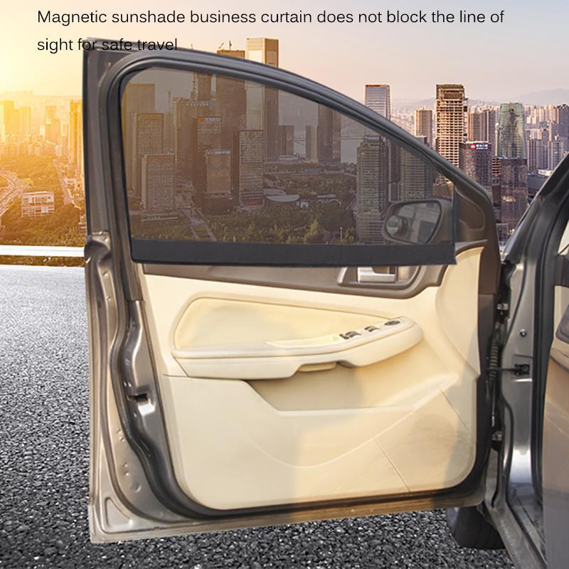 YX-ZYD-003 Car Side Window Shades Car Magnetic Curtain Sun Shade UV Protection Mesh Sun Visor