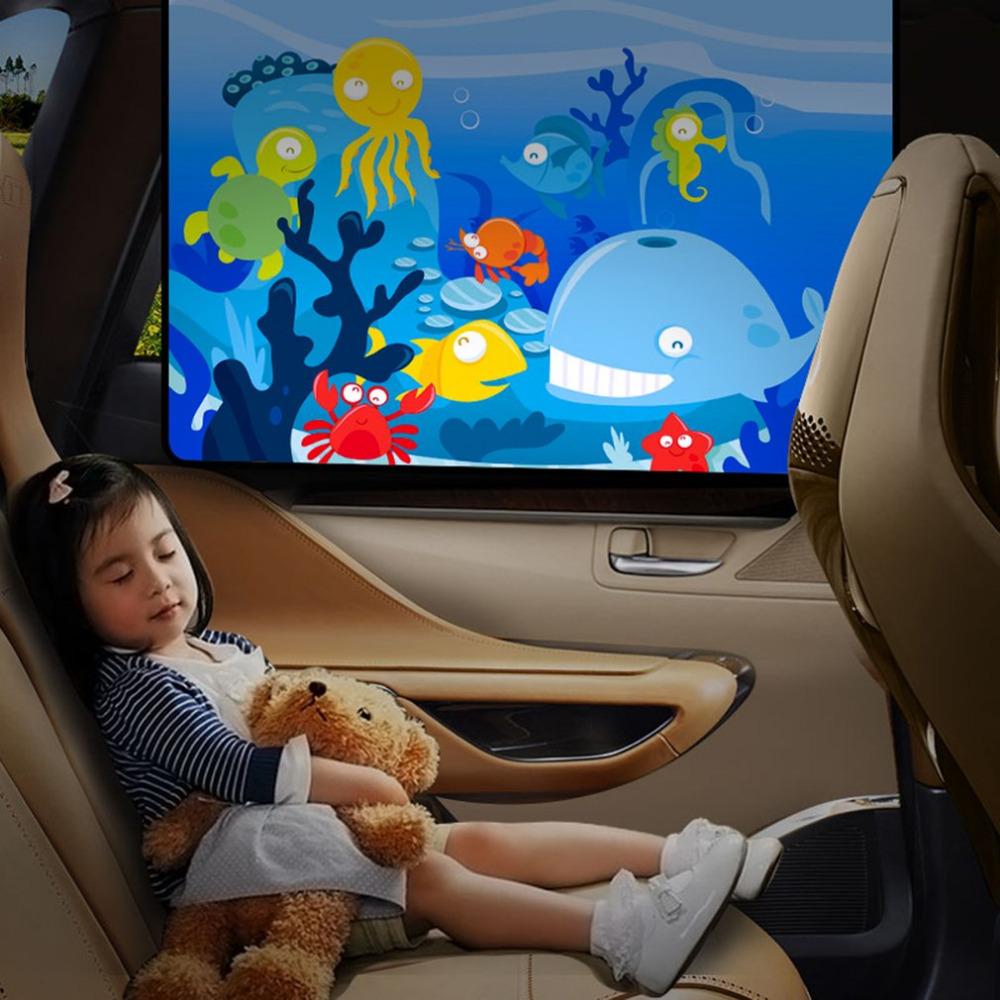 YX-ZYD-007 Summer Car Window Shades Mesh Car Sun Shade Car Magnetic Curtain Side Window Mesh Sun Visor