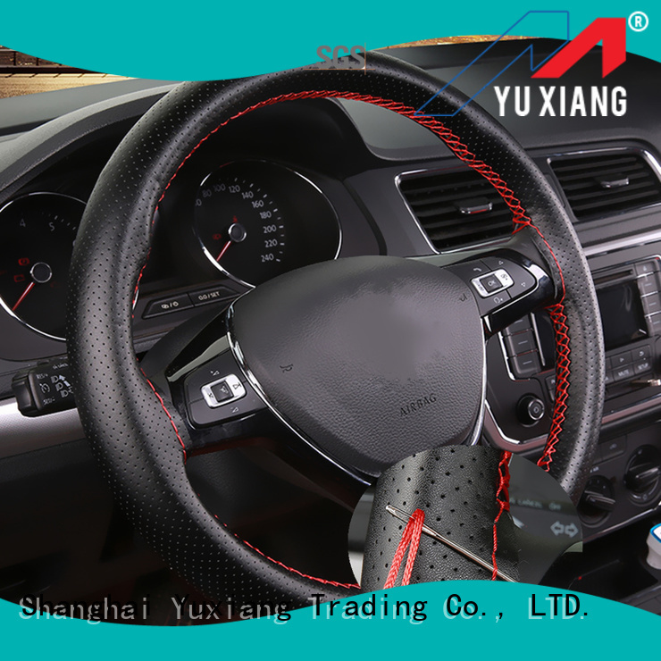 New universal leather steering wheel cover for business for vehicle