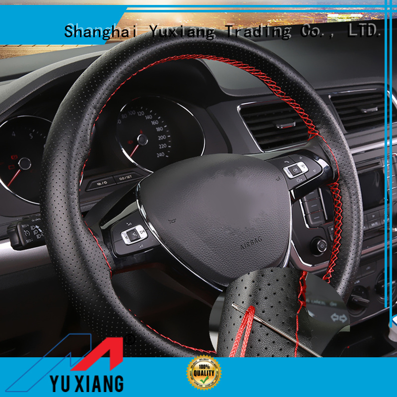 Top universal leather steering wheel cover Supply for vehicle