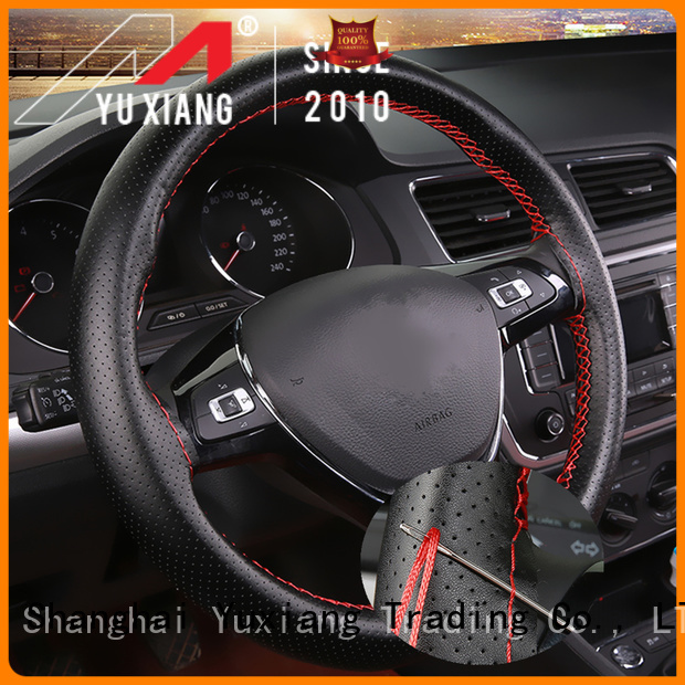 Yuxiang faux leather steering wheel cover for business for car