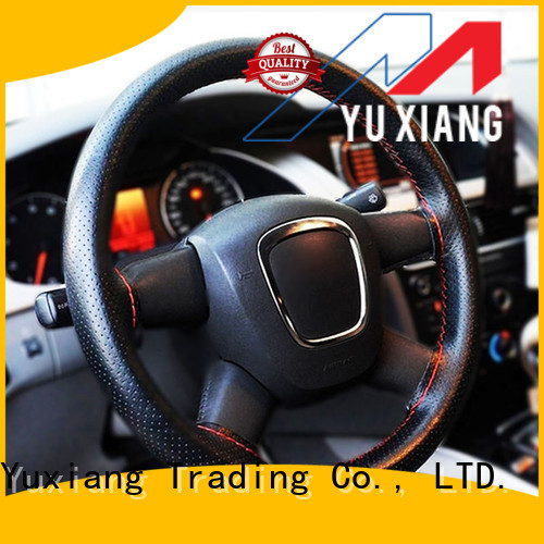 Yuxiang high quality steering wheel cover factory for car