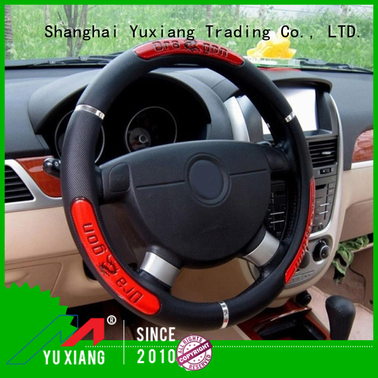 Custom leather steering wheel cover Suppliers for vehicle
