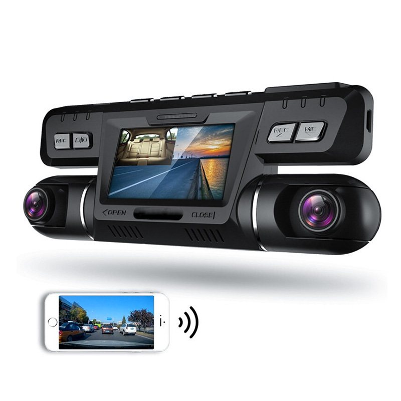 Dash Cam Dual Lens Car DVR Vehicle Camera Video Recorder I4000 Full HD 1080P 320 Degree 2.7