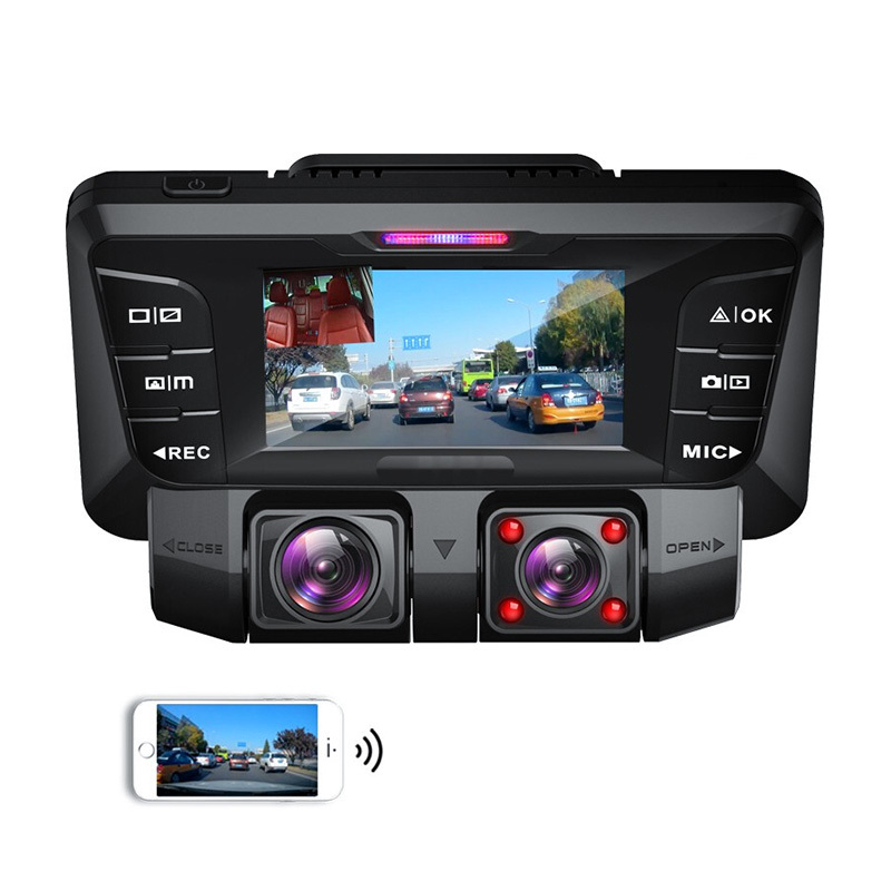 Infrared 2.7-inch vehicle-mounted DVR dual-camera video recorder vehicle-mounted dashcam