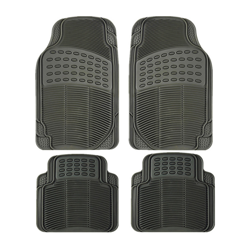 Car floor Mat PVC general black grey rice plastic car mat waterproof and non-slip four seasons pad wholesale