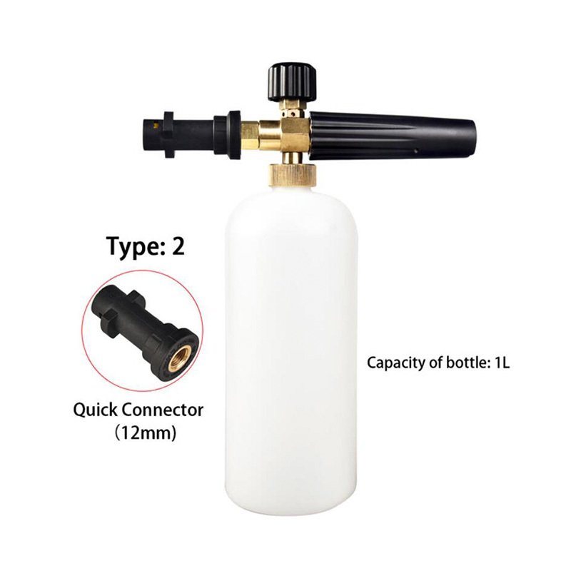 High-pressure car wash foam gun